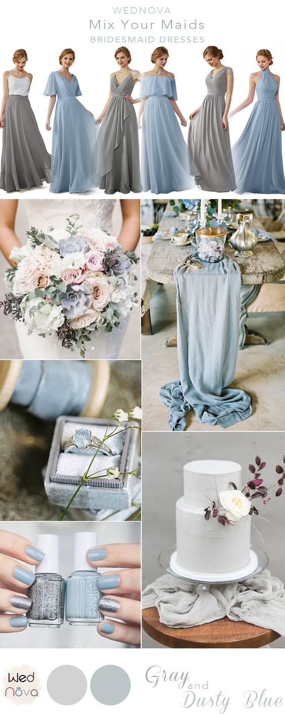 Top 10 Dusty Blue Bridesmaid Dresses Ideas On Pinterest Wednova Blog