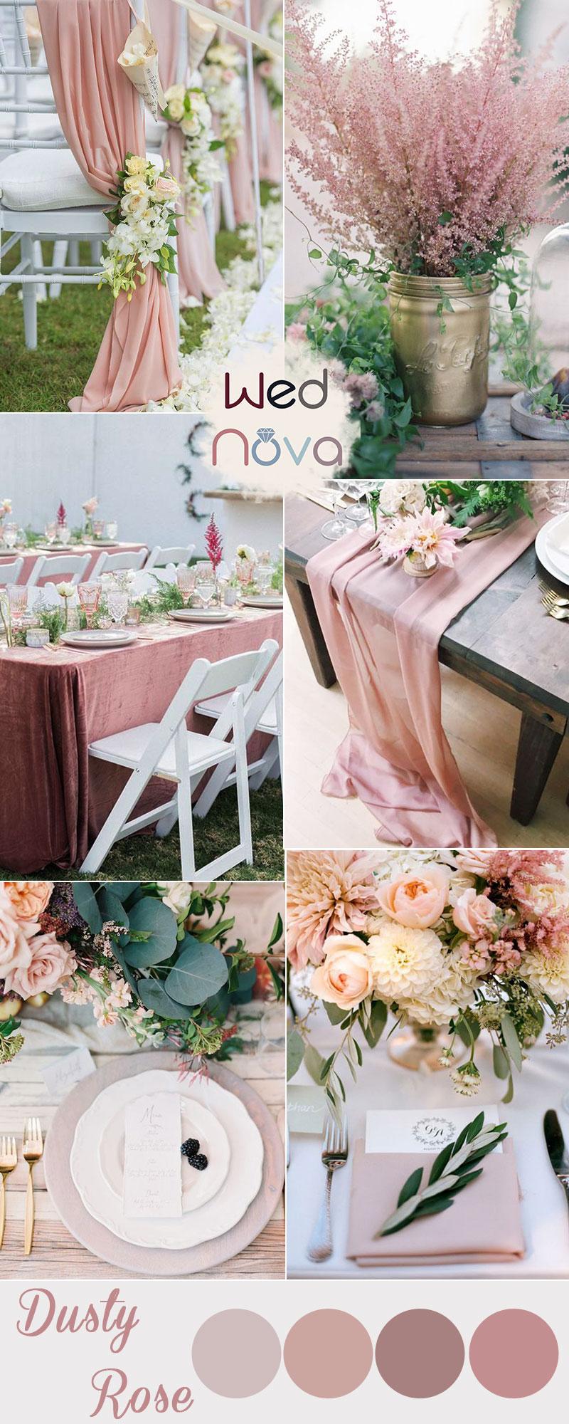 30+ Trendy Dusty Rose Wedding Color Ideas You'll Love - WedNova Blog