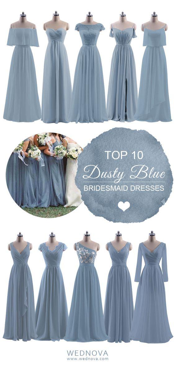 f4bdc47fb513 TOP 10 Dusty Blue Bridesmaid Dresses ideas on Pinterest - WedNova Blog