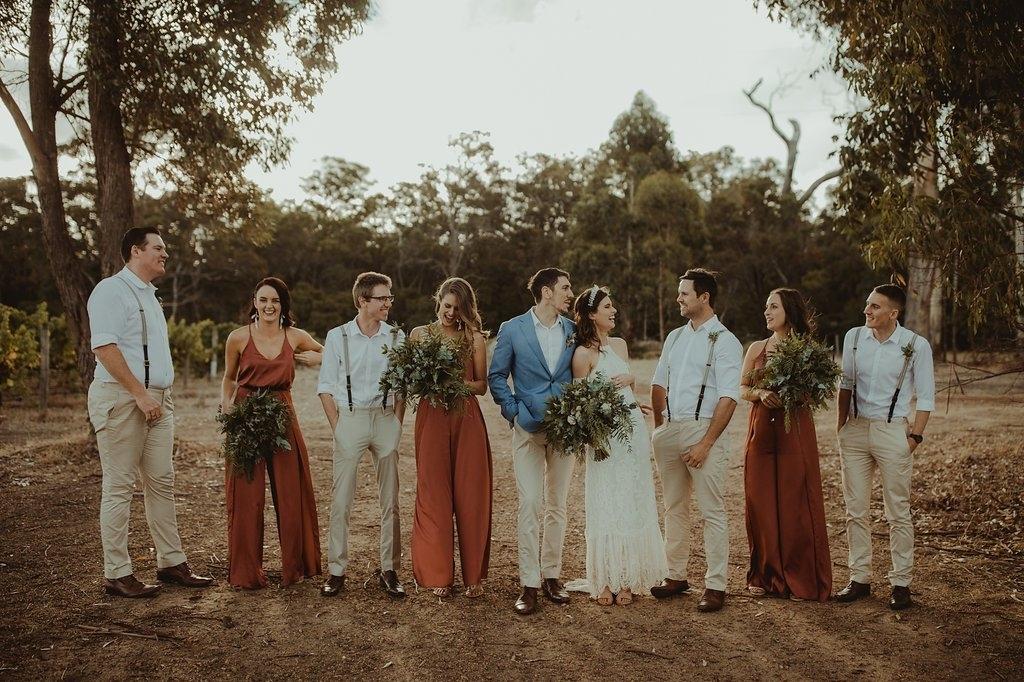 Orange Gown Wedding: Trending: 15 Ideas For Burnt Orange Bridesmaid Dresses For