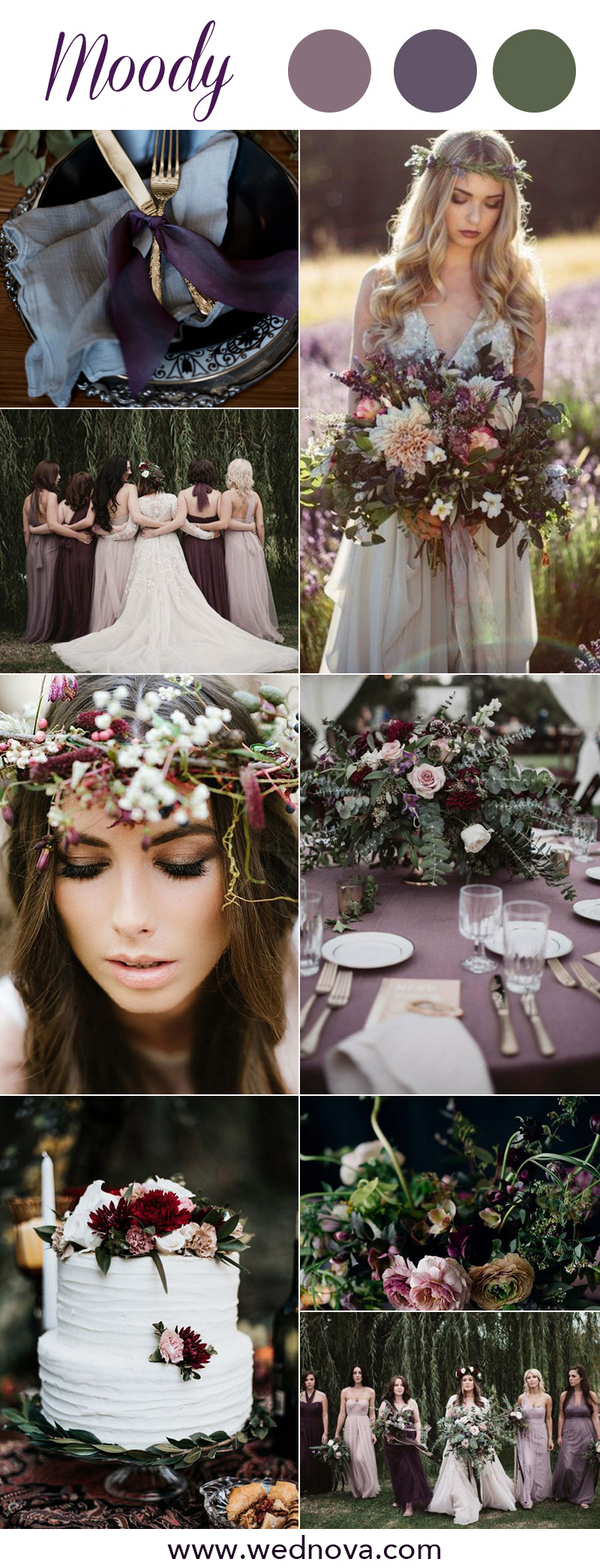 8 Chic Moody Wedding Color Palettes That Celebrate the ...