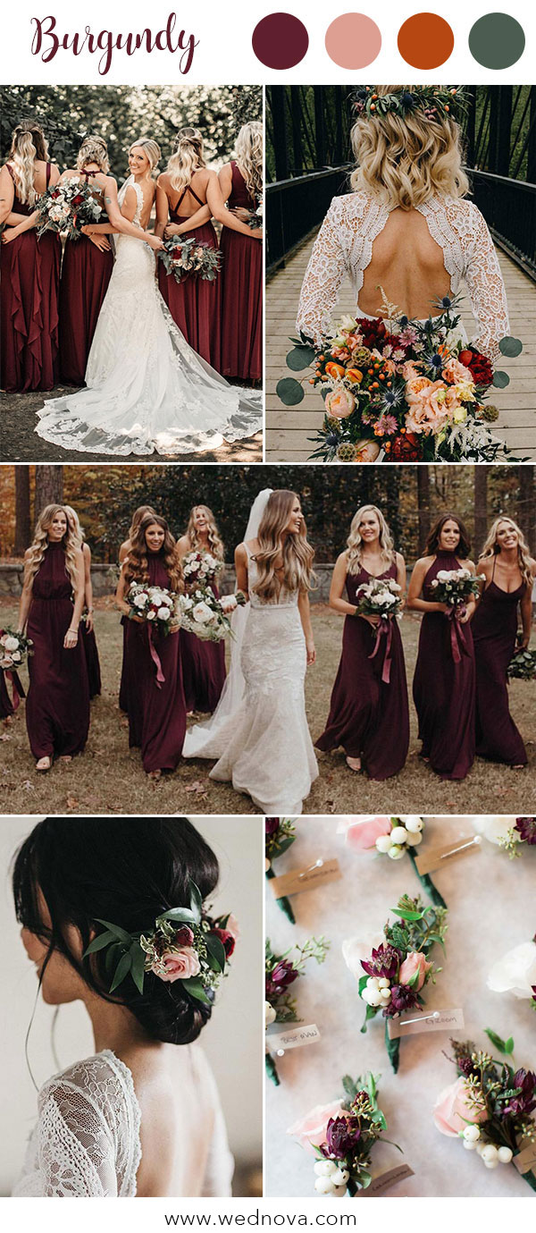 4d844438b8a 10 Hot Wedding Color Palettes for 2019 Trends - WedNova Blog