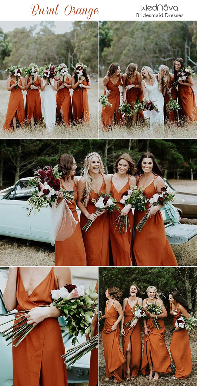 Trending 15 Ideas For Burnt Orange Bridesmaid Dresses For 2019