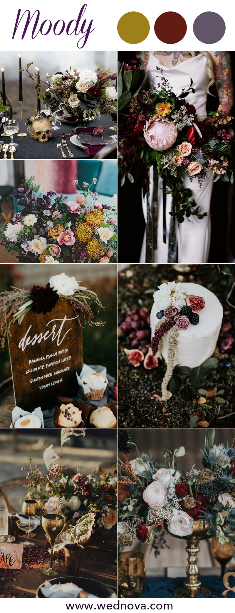 8 Chic Moody Wedding Color Palettes That Celebrate the Season - WedNova Blog
