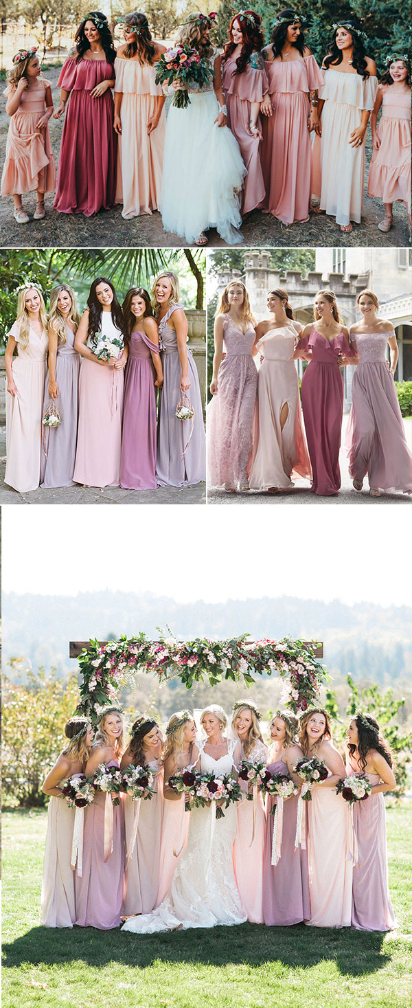879617346c9 A combination of pink cosmos is another famine world. As the most classical  shade of bridesmaid dresses