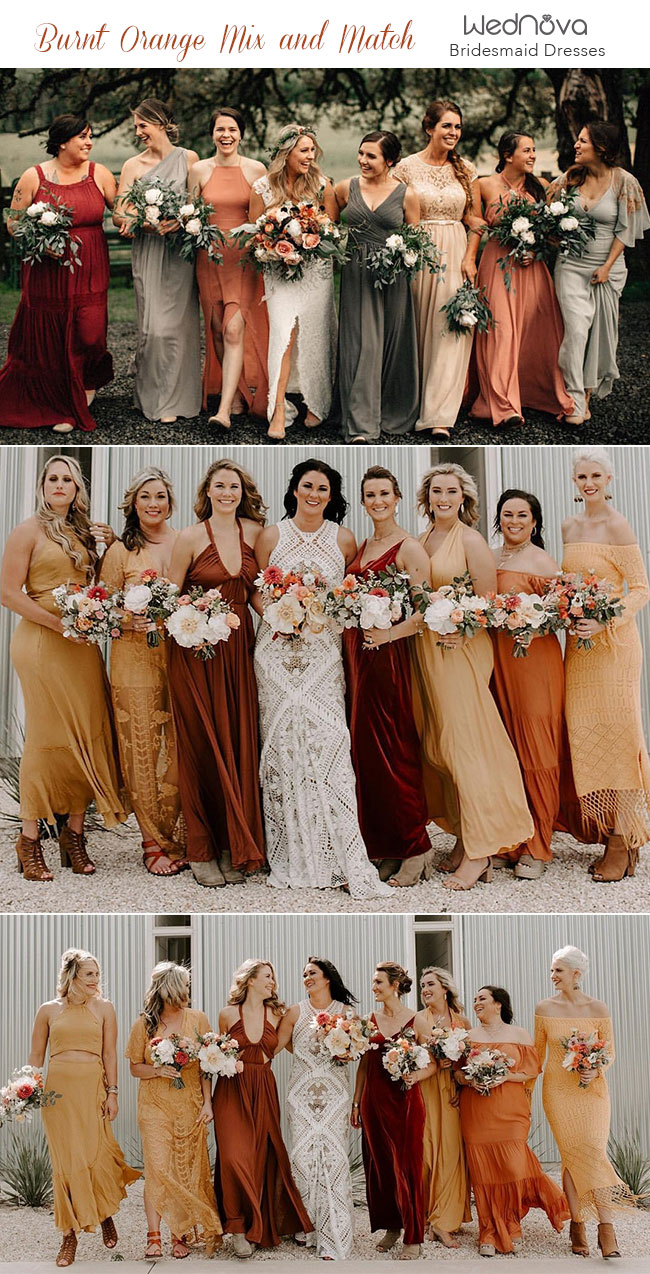 d67944153d Trending: 15 Ideas for Burnt Orange Bridesmaid Dresses for 2019 ...