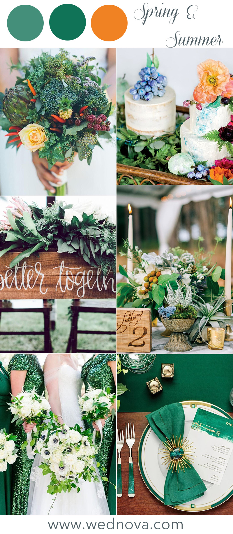 12 Wedding Color Palettes That Are Perfect For Spring Wednova Blog