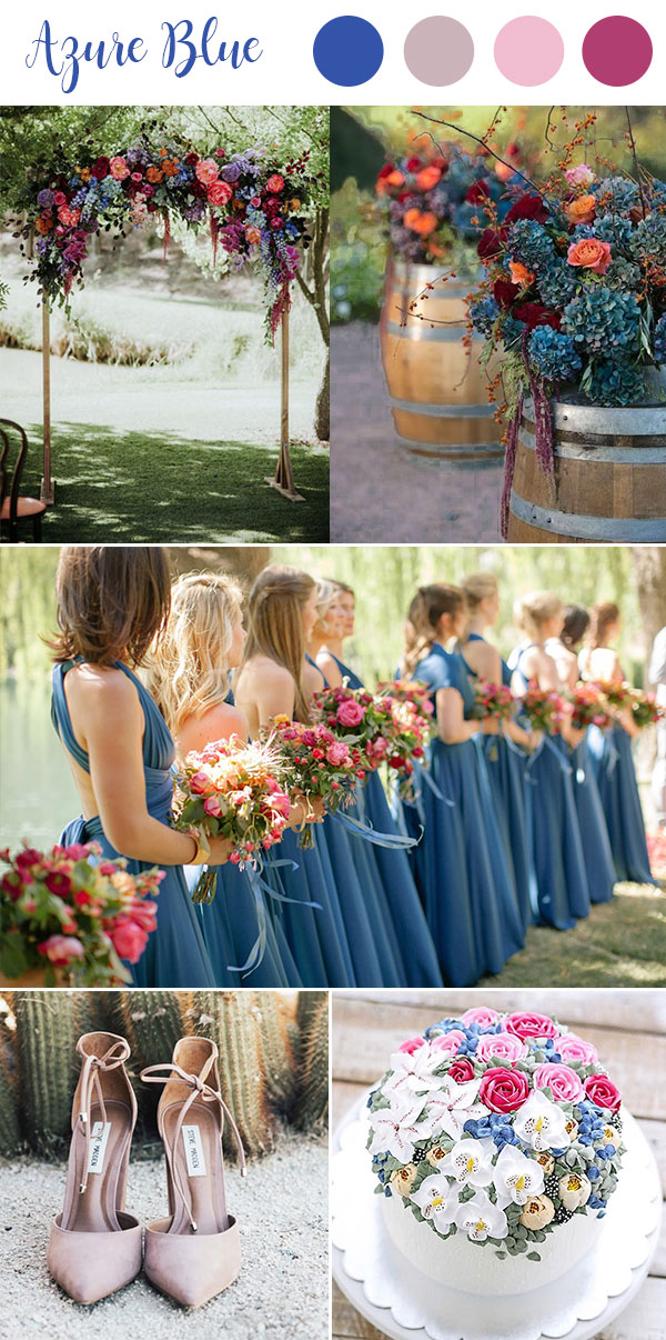 Popular Wedding Colors.9 Most Popular Blue Wedding Color Palettes For Your Big Day