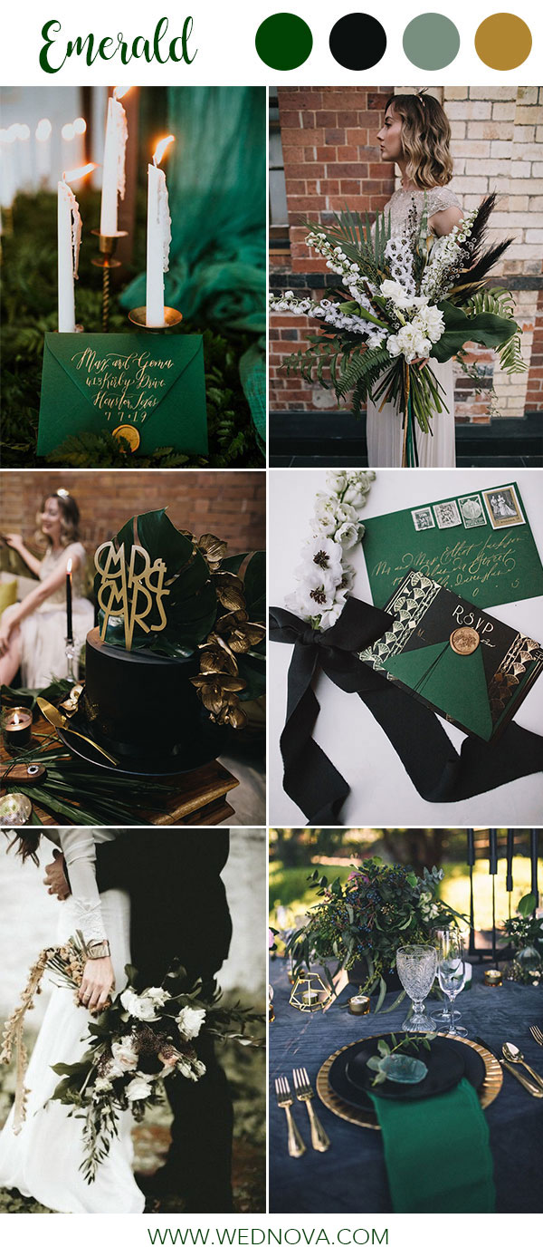 14 Best Emerald Wedding Color Palette Ideas To Swoon Over Wednova Blog