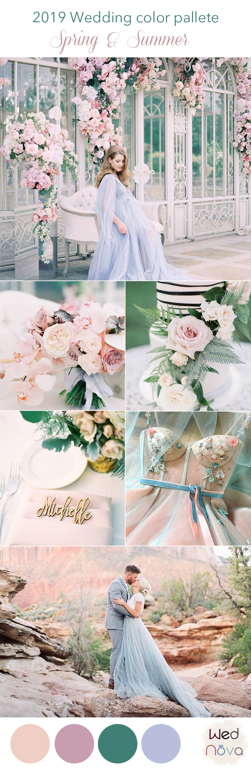 Wedding Colors For Summer.12 Wedding Color Palettes That Are Perfect For Spring Wednova Blog