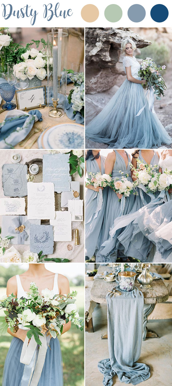 9 Ultimate Dusty Blue Color Combinations for Wedding ...