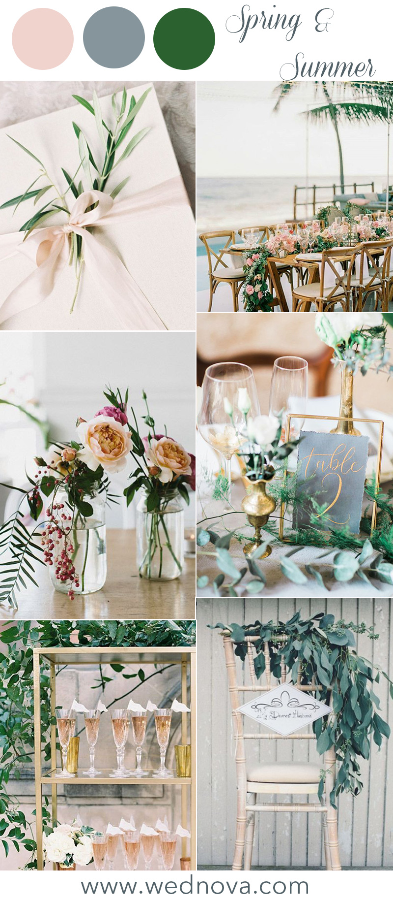 Wedding Color Palettes.12 Wedding Color Palettes That Are Perfect For Spring
