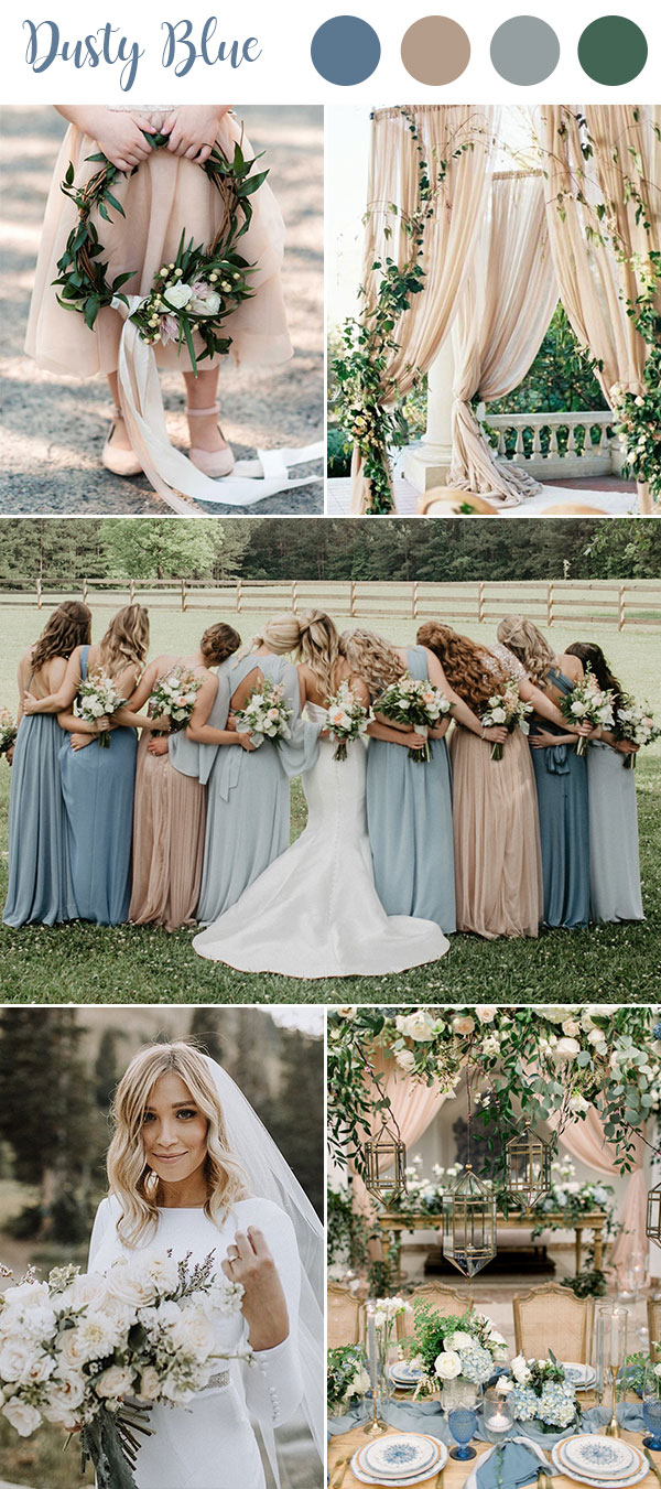 Dusty Blue Color Combinations
