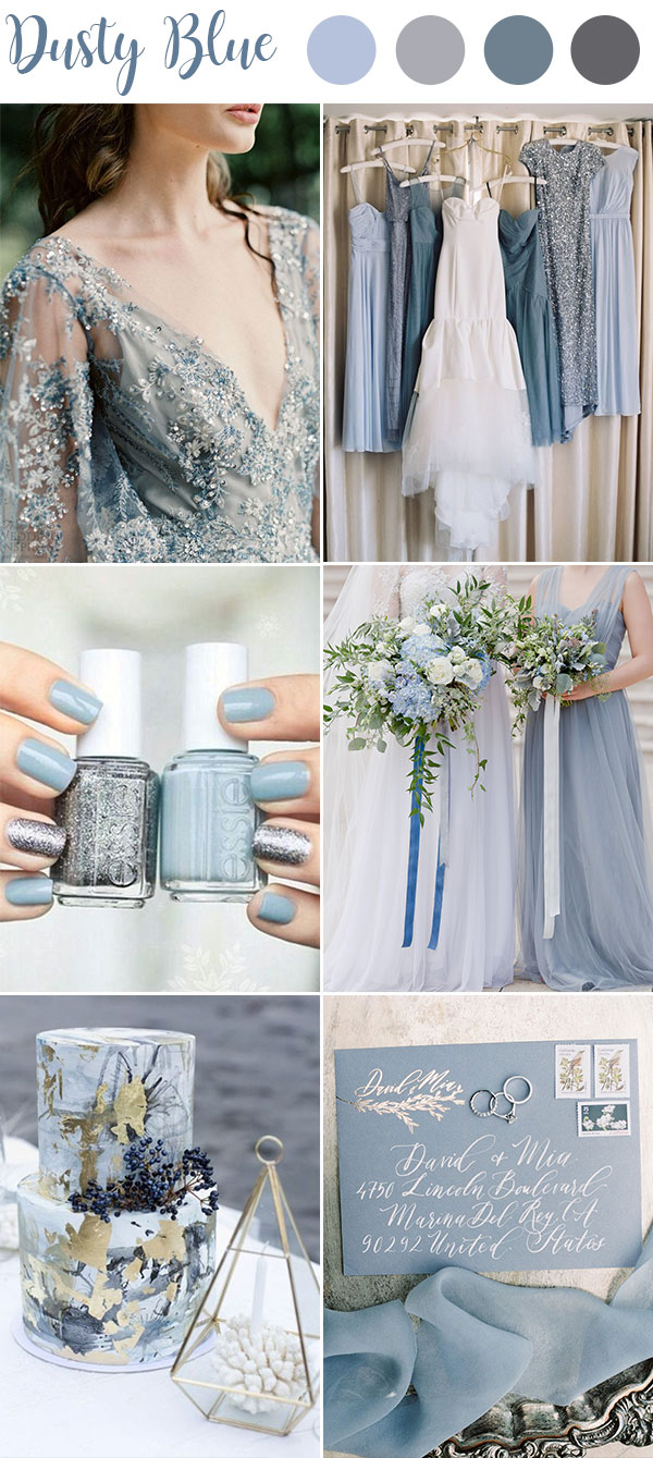 0fe3ebf377 9 Ultimate Dusty Blue Color Combinations for Wedding - WedNova Blog