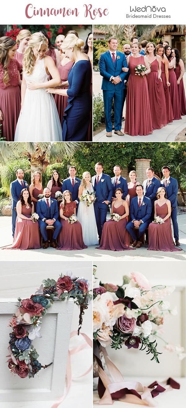 10 Trendy Amp Romantic Cinnamon Rose Bridesmaid Dresses And