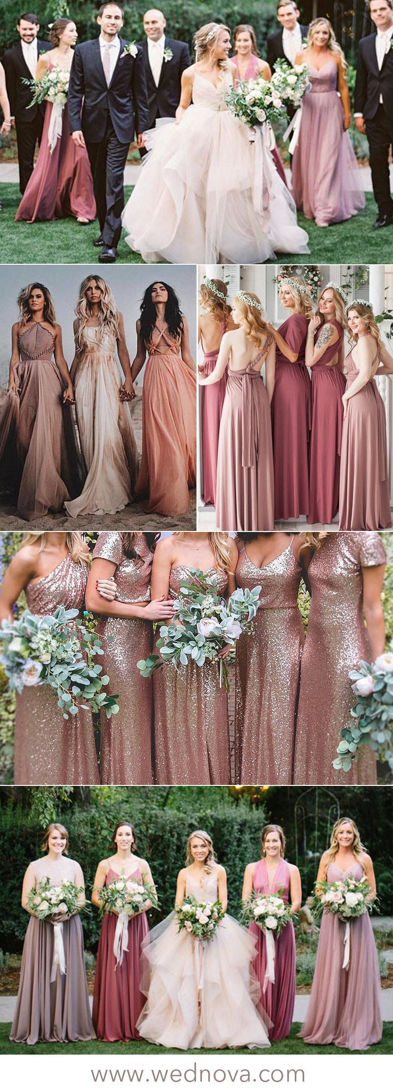 3a912415709 2019 Trending  15 Stunning Dusty Rose Bridesmaid Dresses Ideas You ...