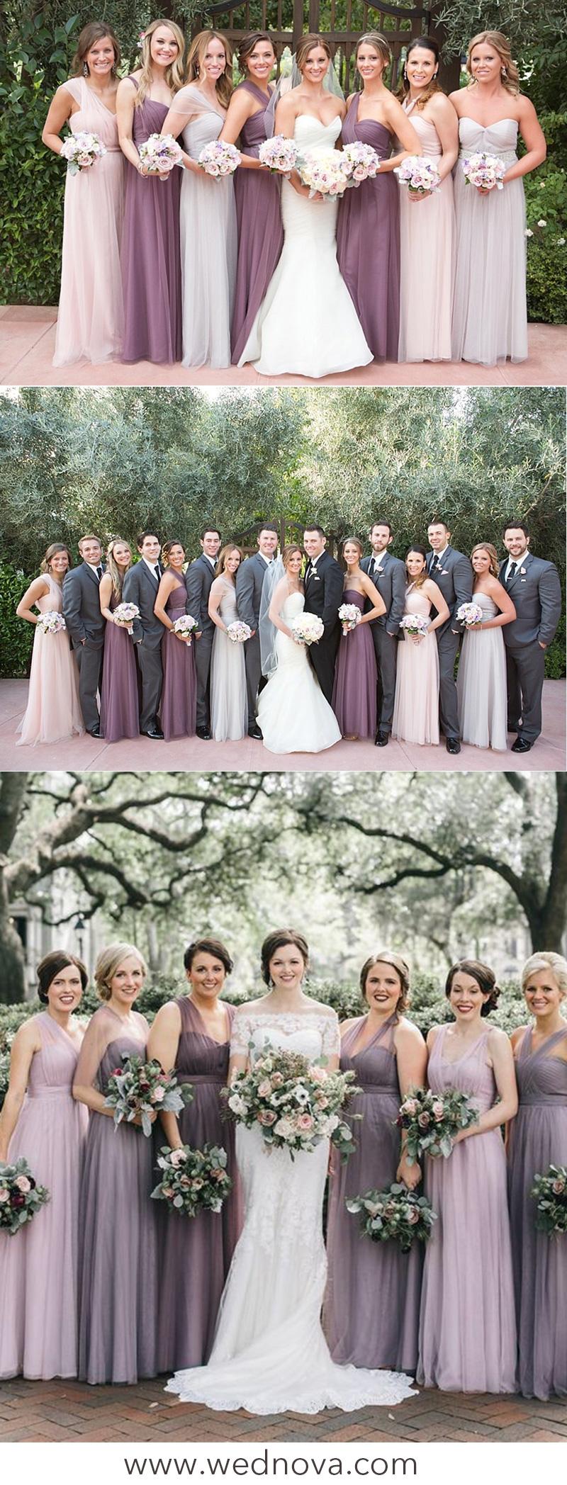 Mauve Color Bridesmaid Dresses | Saddha