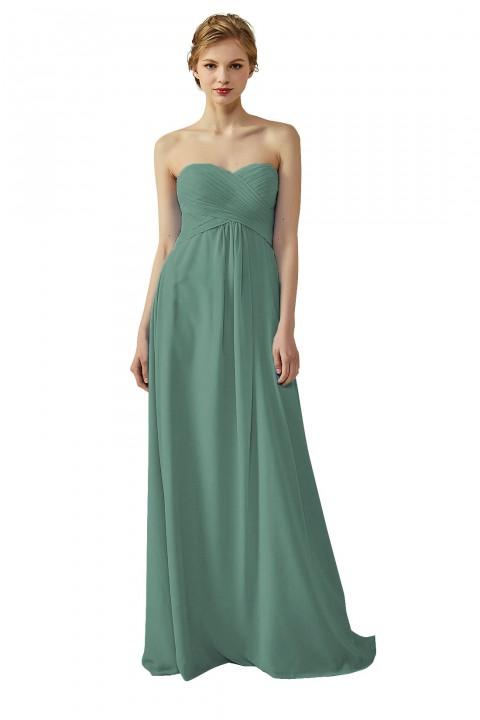Classic Simple Sweet Heart Bridesmaid Dress