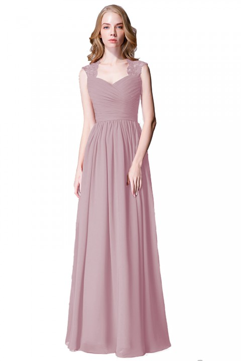 Modest Sweetheart Bridesmaid Dress with Lace Back
