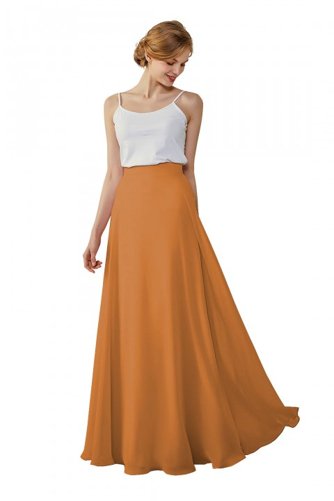 Simple Chiffon Bridesmaid Skirt Long