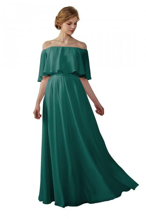 Clearance | Bohemian Style Off Shoulder Chiffon Bridesmaid Dress