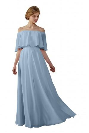 221df50530 Bohemian Style Off Shoulder Chiffon Bridesmaid Dress