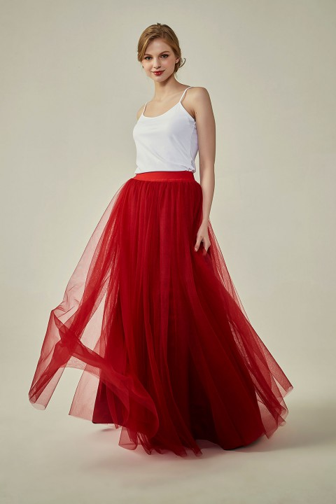 Clearance | Wedding Bridesmaid Long Tulle Skirt