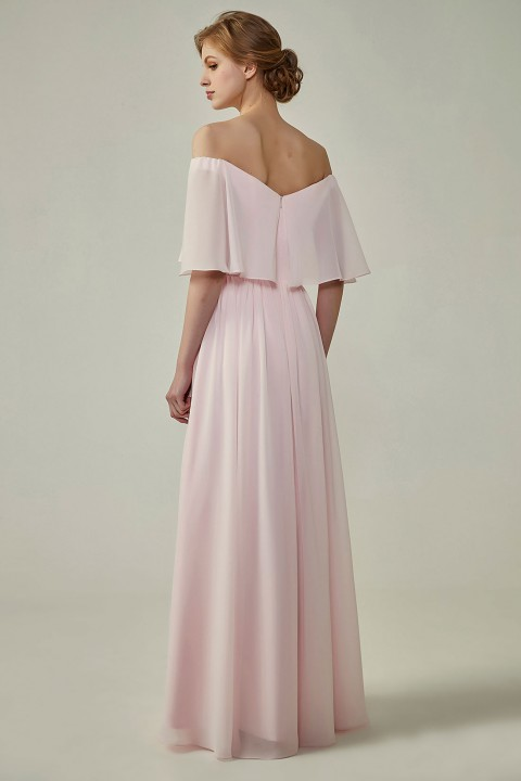 Clearance | Bohemian Style Off Shoulder Chiffon Bridesmaid Dress