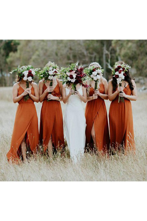 Clearance | Open back bridesmaid dress with split