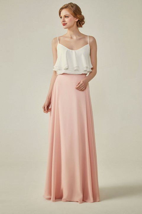 Bridesmaid Spagetti Strap Frill Top