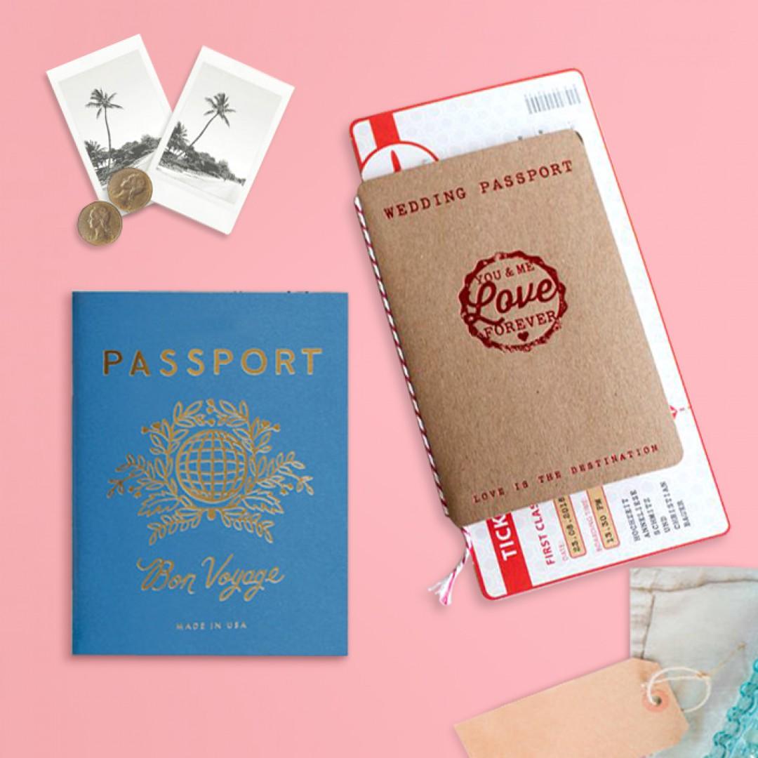 Wedding Passport Invitation and Boarding Pass Invitation Destination ...