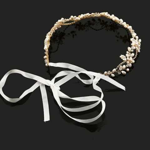 Flexible Bridal Halo Wedding Leaf